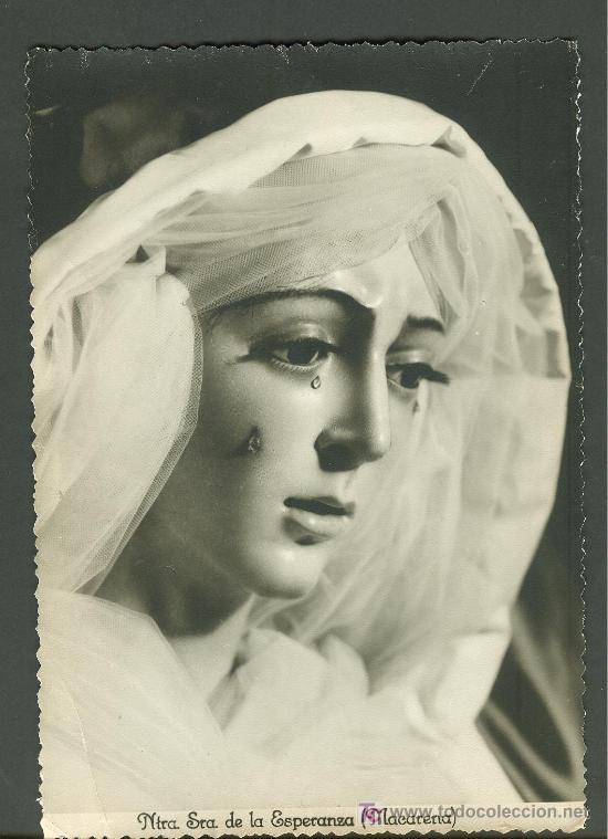 SEMANA SANTA DE SEVILLA. FOTOGRAFIA EN BLANCO Y NEGRO DE LA ESPERANZA MACARENA. FOTO GARD (Fotografía Antigua - Fotomecánica)