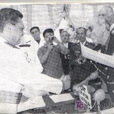 Fotografía antigua: PLACA GRABADO FOTOGRAFIA ENTREGA DIPLOMAS MILITARES ANTE LOS MICROFONOS RADIO JUVENTUD DE MALAGA. Lote 27370537