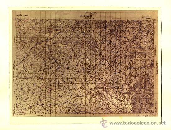 FOTOGRAFÍA MAPA DE BELORADO ( BURGOS ) - AÑOS 60 (Fotografía Antigua - Fotomecánica)