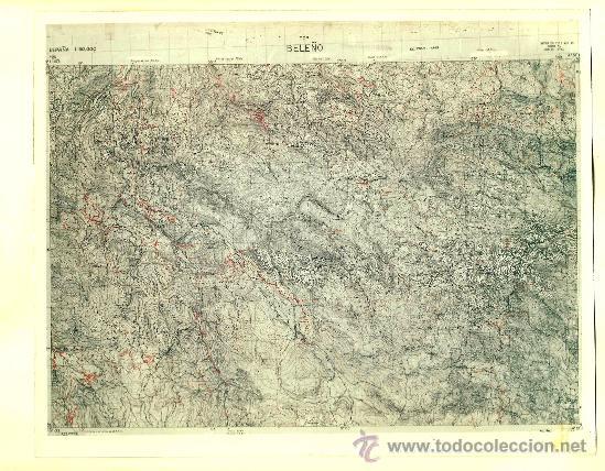 FOTOGRAFÍA MAPA DE BELEÑO (ASTURIAS) - AÑOS 60 (Fotografía Antigua - Fotomecánica)