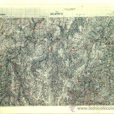 Fotografía antigua: FOTOGRAFÍA MAPA DE BELMONTE (ASTURIAS) - AÑOS 60. Lote 23905001
