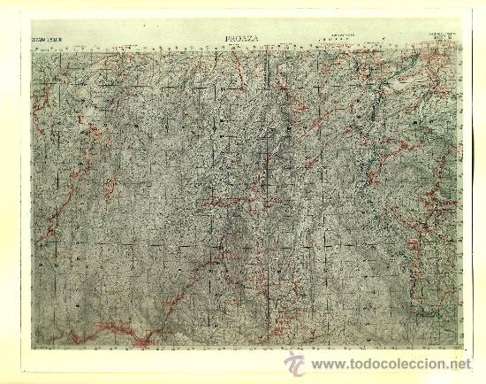 FOTOGRAFÍA MAPA DE PROAZA ( ASTURIAS ) - AÑOS 60 (Fotografía Antigua - Fotomecánica)