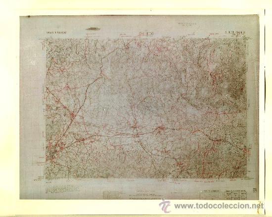 FOTOGRAFÍA MAPA DE OVIEDO ( ASTURIAS ) - AÑOS 60 (Fotografía Antigua - Fotomecánica)