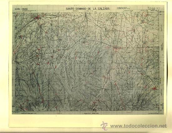 FOTOGRAFÍA MAPA DE SANTO DOMINGO DE LA CALZADA ( LA RIOJA ) - AÑOS 60 (Fotografía Antigua - Fotomecánica)
