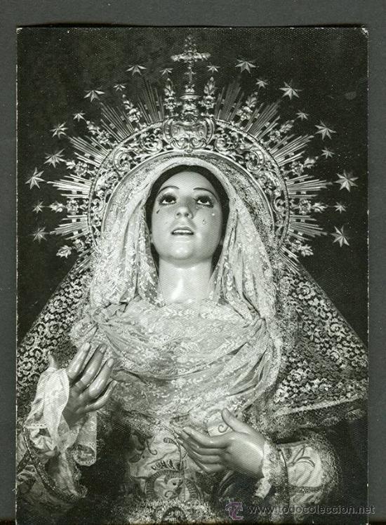 SEMANA SANTA DE SEVILLA. FOTOGRAFIA EN BLANCO Y NEGRO DE LA VIRGEN DE GUIA. AÑO 1971. LEER TEXTO (Fotografía Antigua - Fotomecánica)