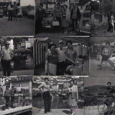 Fotografía antigua: NUEVE FOTOGRAFIAS FAMILIARES EN ASTURIAS (LUARCA) AÑOS 60. Lote 26077899
