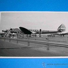 Fotografía antigua: FOTOGRAFÍA ORIGINAL AVIÓN SUPERCONSTELLATION COMPAÑÍA CUBANA DE AVIACIÓN. NUEVA YORK-LA HABANA, 1957. Lote 26635441
