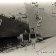 Fotografía antigua: FOTOGRAFIA PUERTO DE LAS PALMAS.O TENERIFE- BARCOS DE GUERRA. Lote 27512341