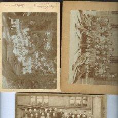 Fotografía antigua: ALEMANIA.SUIZA.FRANCIA. LOTE DE 3 FOTOS. HACIA 1900. TAMAÑO CABINET.. Lote 25522842