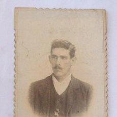Fotografía antigua: RETRATO HOMBRE - MAN PORTRAIT. CARTON DURO. HARD CARDBOARD. Lote 27365649