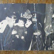Fotografía antigua: BONITA FOTO ANTIGUA DE LOS REYES MAGOS 9X14. Lote 26195249