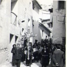 Fotografía antigua: SEMANA SANTA EN HIJAR (TERUEL) PROCESION DEL PREGON 1955. Lote 26774248