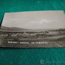 Fotografía antigua: FERROL ARENAL DE CABAÑAS . Lote 27836485
