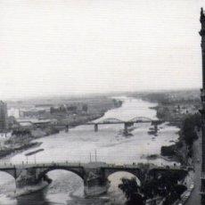 Fotografía antigua: RIO EBRO DESDE LAS TORRES DEL PILAR DE ZARAGOZA. Lote 27912296