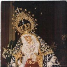 Fotografía antigua: VIRGEN DE LA INIESTA, SEVILLA, FOTOGRAFIA VIRGEN DOLOROSA SEVILLA AÑOS 70, 23X17 CM. Lote 27953545