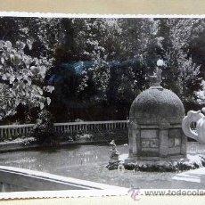 Fotografía antigua: ANTIGUA FOTO, FOTOGRAFIA PASEO, PARQUE RIBALTA, CASTELLON, FUENTE, MEDIDAS: 18X12 CM. Lote 28827295