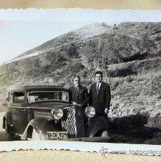 Fotografía antigua: ANTIGUA FOTO, FOTOGRAFIA, COCHE ANTIGUO, FAMILIA, 1958, PUERTO OLLERIA, MEDIDAS: 9X7 CM. Lote 28834569