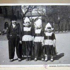 Fotografía antigua: FOTOGRAFIA, FOTO, NIÑOS DISFRAZADOS, 14 X 1 CM. Lote 29214836