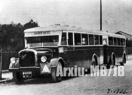AUTOBÚS URBANO 1933 (Fotografía Antigua - Fotomecánica)