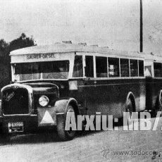 Fotografía antigua: AUTOBÚS URBANO 1933. Lote 29494309