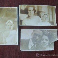 Fotografía antigua: 3 ANTIGUAS FOTOS SEPIA - 3 VIEILLES PHOTOS, OLD SEPIA PHOTOS.. Lote 29508846