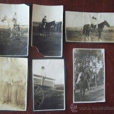 Alte Fotografie - 6 FOTOS ANTIGUAS, CABALLOS, CARROS, JINETES. - HORSES, CHARIOTS, CHEVAUX, CHARS, CAVALIERS. - 29508871