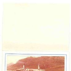 Fotografía antigua: 3 – FOTOS BARCO QUEEN ELIZABETH 2 -- PASANDO EL PASO DE PANAMÁ 1975. Lote 29688764