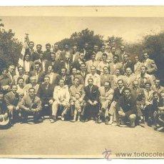Fotografía antigua: GRUPO DE HOMBRES. Lote 29689360