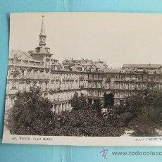 Fotografía antigua: FOTOGRAFIA IMPRESA HAUSER Y MENET 1894 - 457 MADRID - PLAZA MAYOR. Lote 30161832