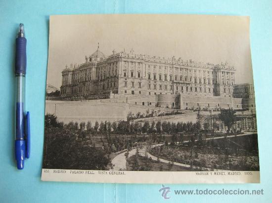 FOTOGRAFIA IMPRESA HAUSER Y MENET 1895 - 455 MADRID - PALACIO REAL - VISTA GENERAL (Fotografía Antigua - Fotomecánica)