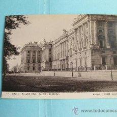 Fotografía antigua: FOTOGRAFIA IMPRESA HAUSER Y MENET 1894 - 454 MADRID - PALACIO REAL - FACHADA PRINCIPAL. Lote 30161903