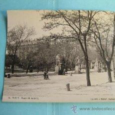 Fotografía antigua: FOTOGRAFIA IMPRESA HAUSER Y MENET 1896 - 111 MADRID - PLAZA DE ORIENTE. Lote 30162123