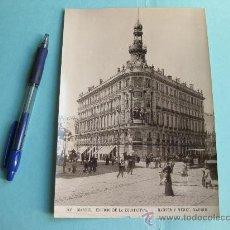Fotografía antigua: FOTOGRAFIA IMPRESA HAUSER Y MENET 1896 - 306 MADRID - EDIFICIO DE LA EQUITATIVA. Lote 30162677