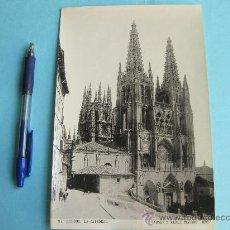 Fotografía antigua: FOTOGRAFIA IMPRESA HAUSER Y MENET 1895 - 217 BURGOS - LA CATEDRAL. Lote 30163276