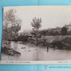 Fotografía antigua: FOTOGRAFIA IMPRESA HAUSER Y MENET 1893 - 108 - MADRID - VISTA DESDE SAN ISIDRO. Lote 30163593