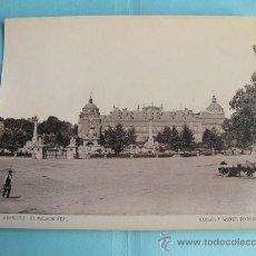 Fotografía antigua: FOTOGRAFIA IMPRESA HAUSER Y MENET 1894 - 133 - ARANJUEZ - EL PALACIO REAL. Lote 30163654
