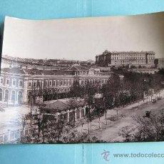 Fotografía antigua: FOTOGRAFIA IMPRESA HAUSER Y MENET 1894 - 109 - MADRID - ESTACION DEL NORTE Y PALACIO REAL. Lote 30163729