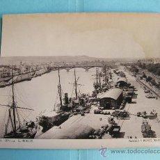 Fotografía antigua: FOTOGRAFIA IMPRESA HAUSER Y MENET 1893 - 94 SEVILLA - EL MUELLE. Lote 30164279