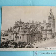 Fotografía antigua: FOTOGRAFIA IMPRESA HAUSER Y MENET 1895 - 92 SEVILLA - LA CATEDRAL. Lote 30164418