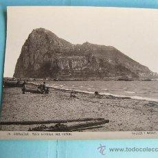 Fotografía antigua: FOTOGRAFIA IMPRESA HAUSER Y MENET 1896 - 76 GIBRALTAR - VISTA GENERAL DEL PEÑON. Lote 30164925