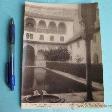 Fotografía antigua: FOTOGRAFIA IMPRESA HAUSER Y MENET 1894 - 13 GRANADA - ALHAMBRA - PATIO DE LOS ARRAYANES SUR. Lote 30165374
