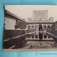Fotografía antigua: FOTOGRAFIA IMPRESA HAUSER Y MENET 1894 - 6 GRANADA - ALHAMBRA - PATIO DE LOS ARRAYANES. Lote 30165521