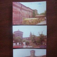Fotografía antigua: MILAN CASTELLO SFORZESCO, 1976 - 3 PHOTOS. Lote 30684985