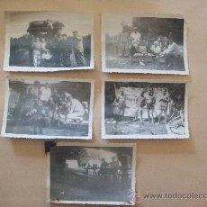 Fotografía antigua: TURISTAS URUGUAY 1954 - 5 PHOTOS, TOURISTES, TOURIST. 5 PHOTOS. Lote 31789988