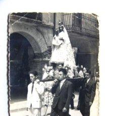 Fotografía antigua: ESTADILLA / 2 FOTOS / PROCESION VIRGEN DE LA CARRODILLA / 25 AGOSTO 1960 / HUESCA. Lote 31810421