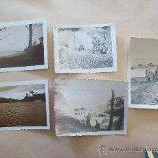 Fotografía antigua: BALNEARIO PORTEZUELO, PUNTA DEL ESTE URUGUAY 1947 - 5 PHOTOS. Lote 31815026