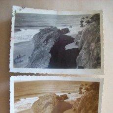 Fotografía antigua: PORTEZUELO, PUNTA BALLENA, MALDONADO URUGUAY, 1948 - 2 PHOTOS. Lote 31815034