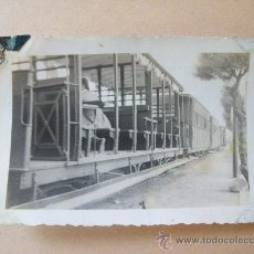 Fotografía antigua: EL TRENCITO DE PIRIA. PIRIAPOLIS URUGUAY, 1950. Lote 31827181