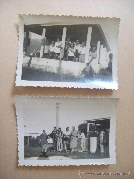 LA COLINA, BALNEARIO PIRIAPOLIS URUGUAY. 2 PHOTOS 1950 (Fotografía Antigua - Fotomecánica)
