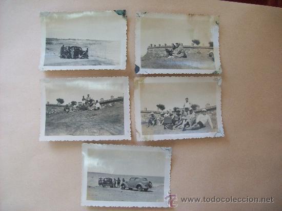 PUNTA FRIA, BALNEARIO PIRIAPOLIS, MALDONADO URUGUAY 1950 - 5 PHOTOS (Fotografía Antigua - Fotomecánica)